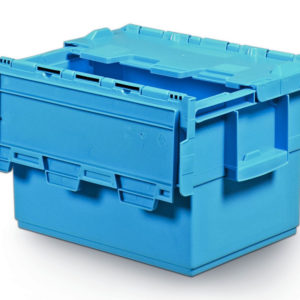 Integra Container Blue 400x300x250 With Lid