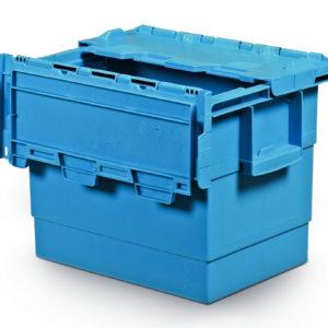 Integra hinged lid 400x300x300 PP blue
